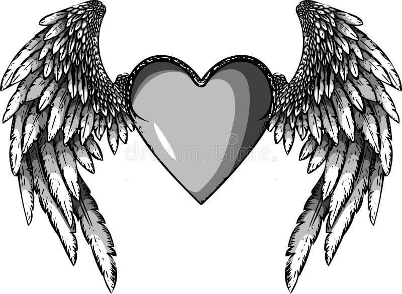 Coeur Conception pour la Saint-Valentin D'isolement sur le fond blanc Illustration de vecteur illustration stock