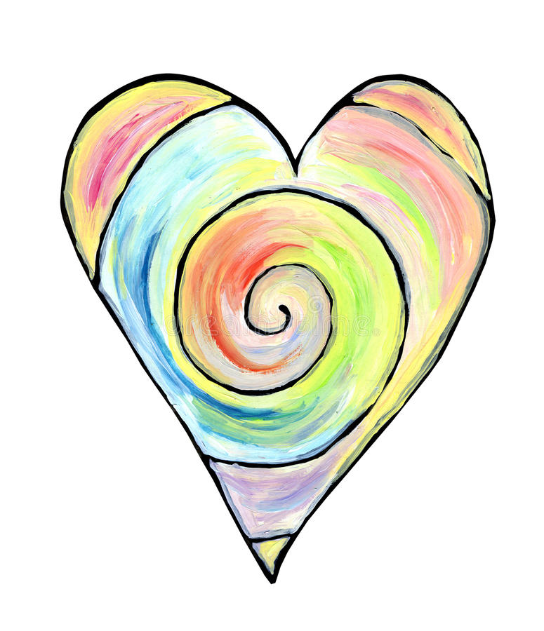 Coeur décoratif tiré par la main illustration de vecteur