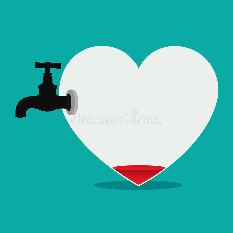 Coeur défait illustration stock