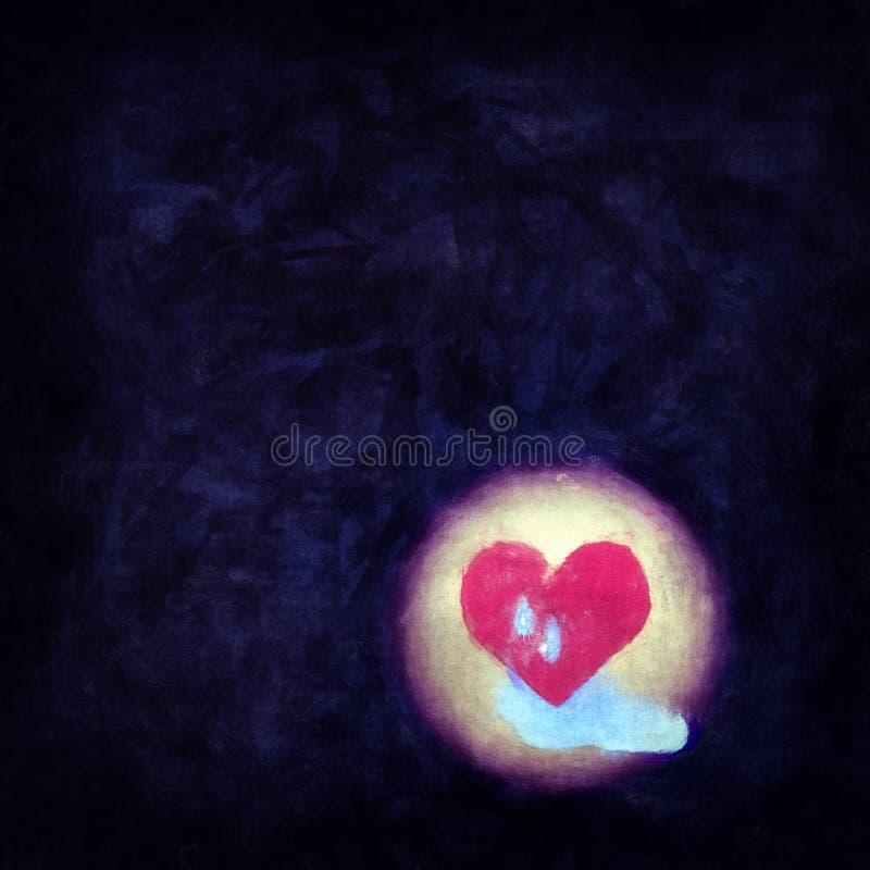 Coeur désespéré avec des larmes illustration libre de droits