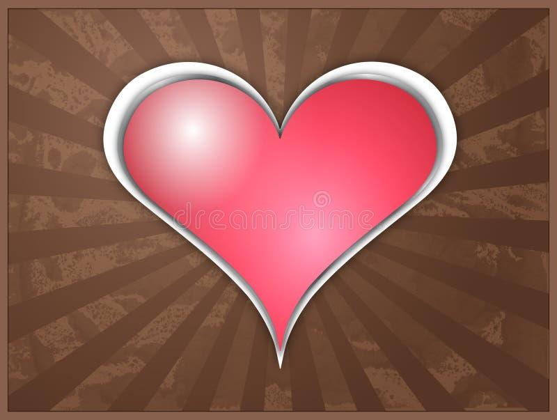 Coeur d'éclat illustration libre de droits