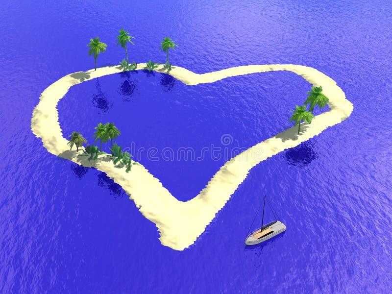Coeur d'île illustration stock