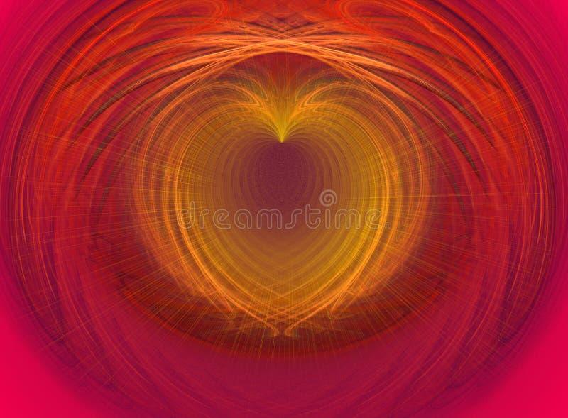 Coeur d'or illustration stock