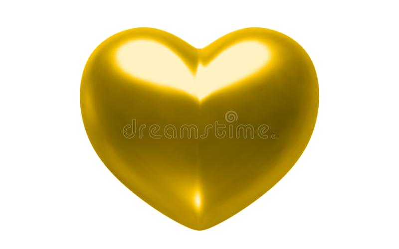 Coeur d'or illustration stock