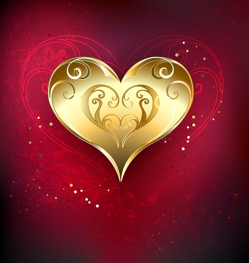 Coeur d'or illustration libre de droits