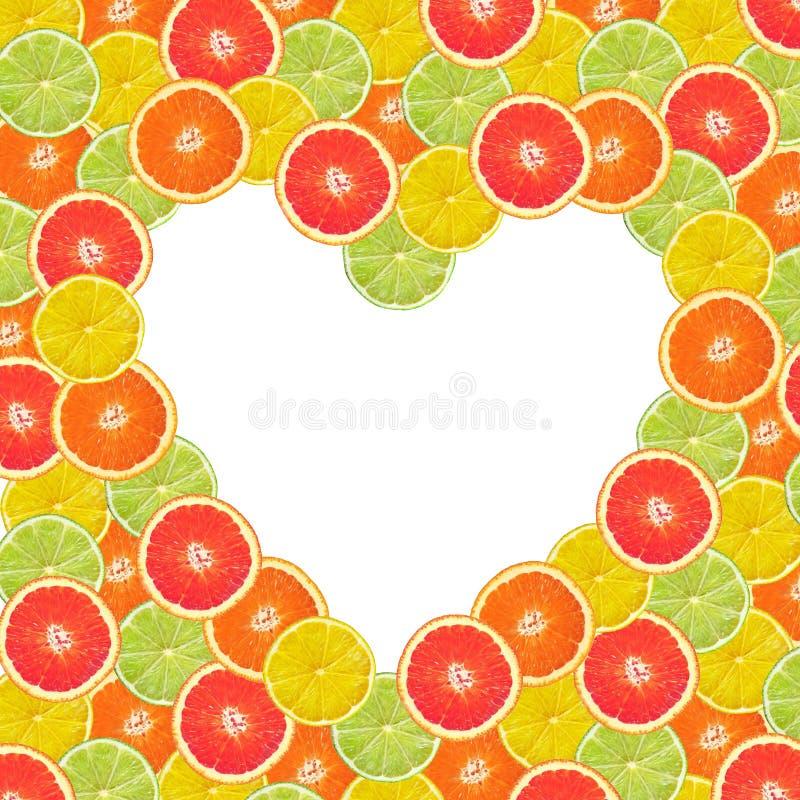 Coeur d'agrume photo stock