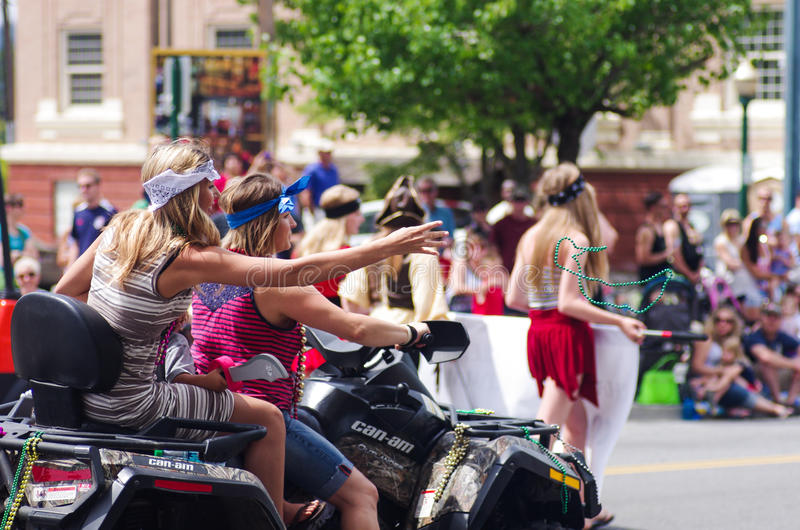 COEUR D ALENE, IDAHO 6-4-2014: 4th of July Parade in downtown Coeur d' Alene stock photography