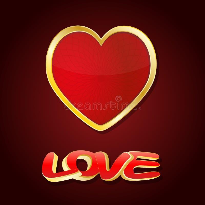 Coeur d'amour illustration libre de droits