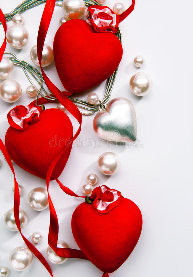 Coeur d'amour de carte de jour de Valentines de conception d'art photos libres de droits