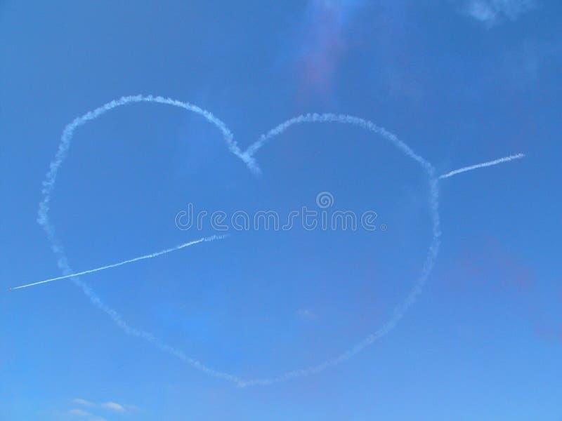 Coeur d'amour de nuage photo stock