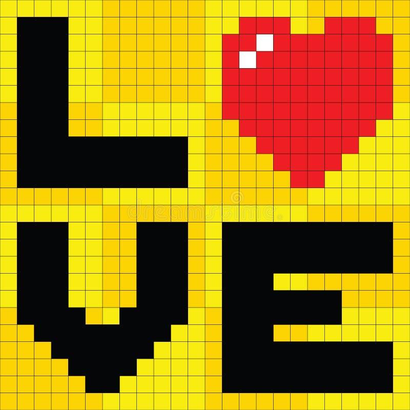 Coeur d'amour de Pixel illustration de vecteur. Illustration du pixel - 27518078