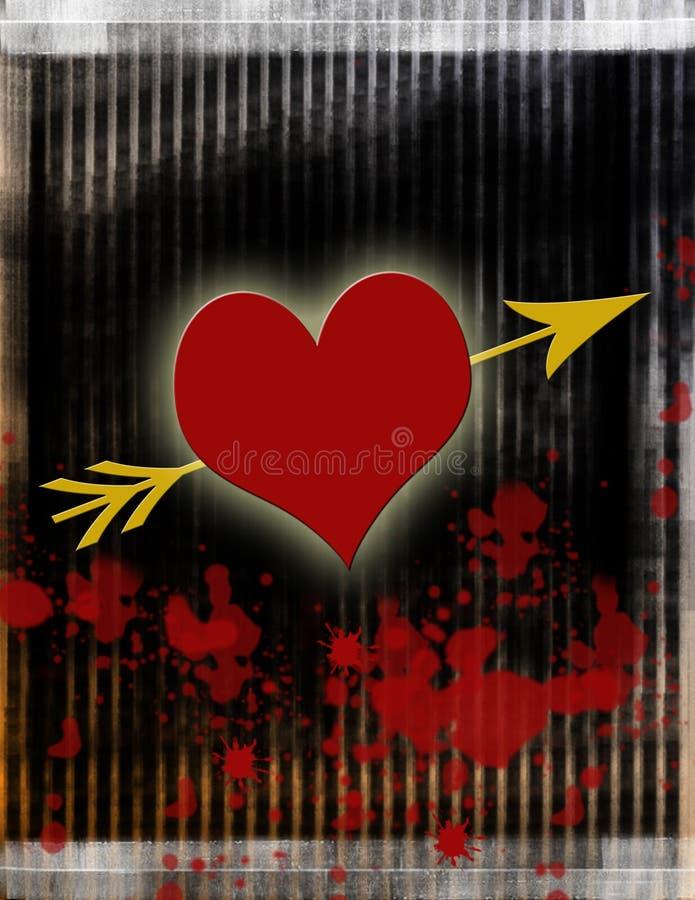 Coeur d'amour de purge illustration de vecteur