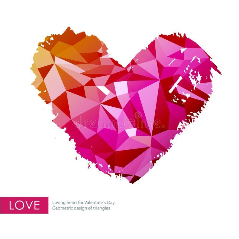 Coeur d 39 amour de triangle illustration de vecteur image du amour 39090651 - Ceour d amour ...