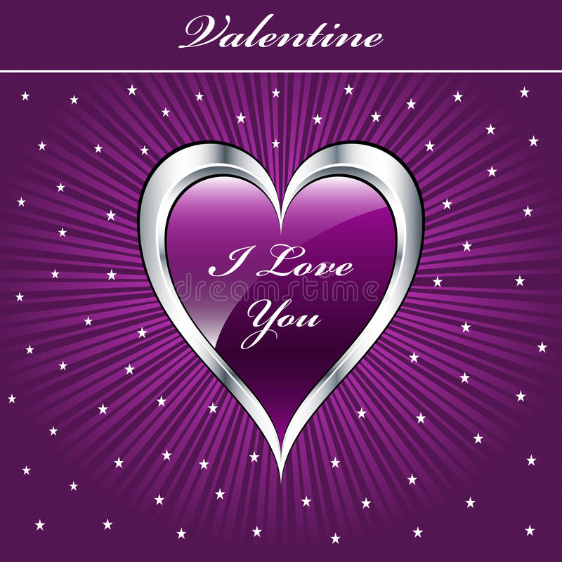 Coeur d'amour de Valentine illustration libre de droits