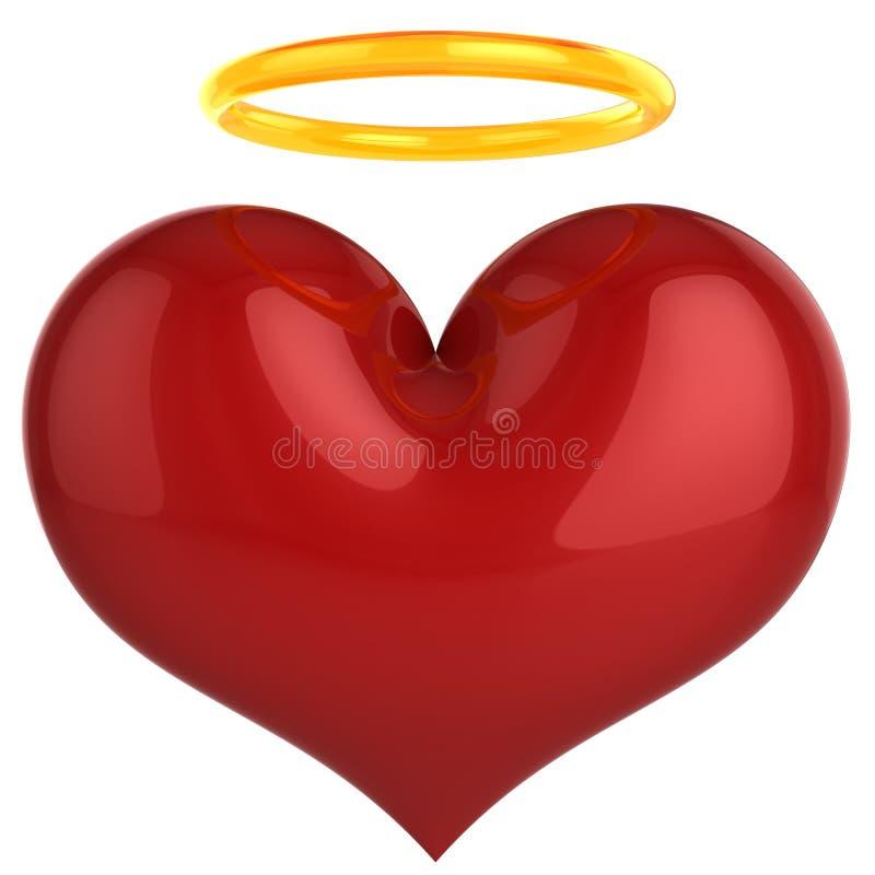 Coeur d'ange. Concept saint d'amour (locations) illustration stock
