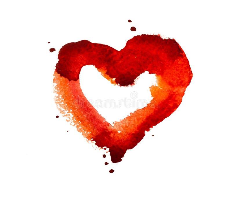 Coeur d'aquarelle illustration libre de droits