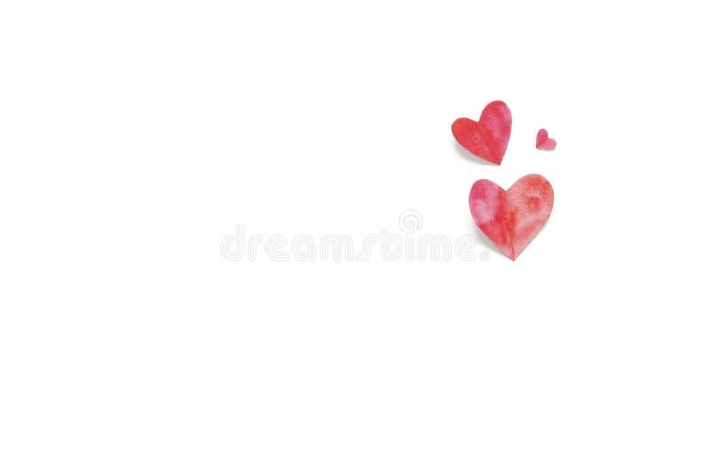 Coeur d'aquarelle Aimez le concept pour le jour du ` s de mère et le jour du ` s de valentine photos libres de droits