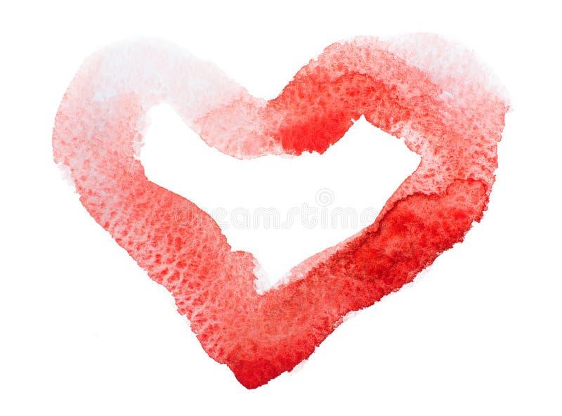 Coeur d'aquarelle. Concept - amour, relations, art, peignant photographie stock