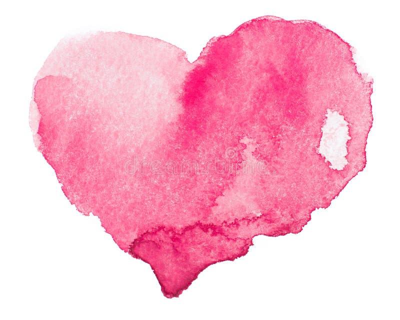 Coeur d'aquarelle. Concept - amour, relations, art, peignant photos stock