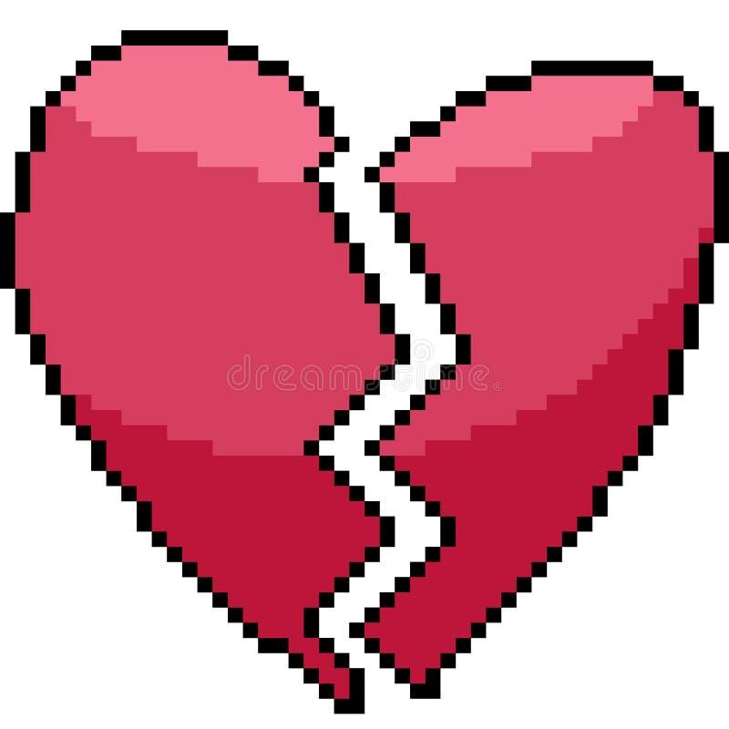 Coeur D'art De Pixel De Vecteur Illustration de Vecteur - Illustration du pixel, coeur: 126398451