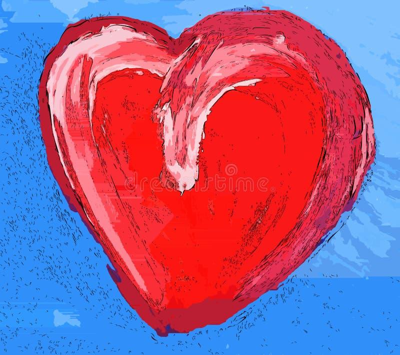 Coeur d'Artistc dans un ciel bleu illustration stock