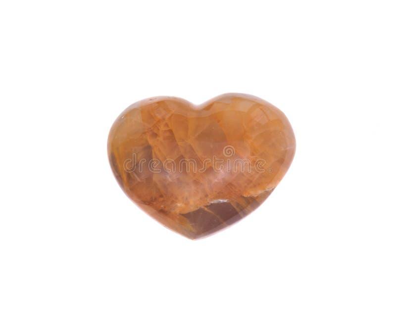 Coeur d'or de quartz de guérisseur photographie stock libre de droits