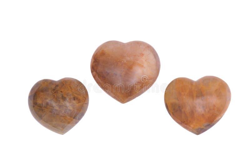 Coeur d'or de quartz de guérisseur photo libre de droits