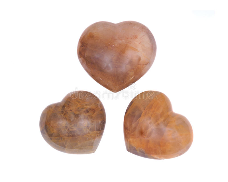 Coeur d'or de quartz de guérisseur images libres de droits