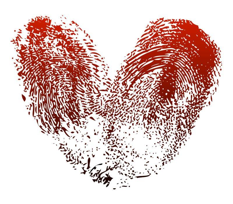 Coeur d'empreinte digitale illustration libre de droits