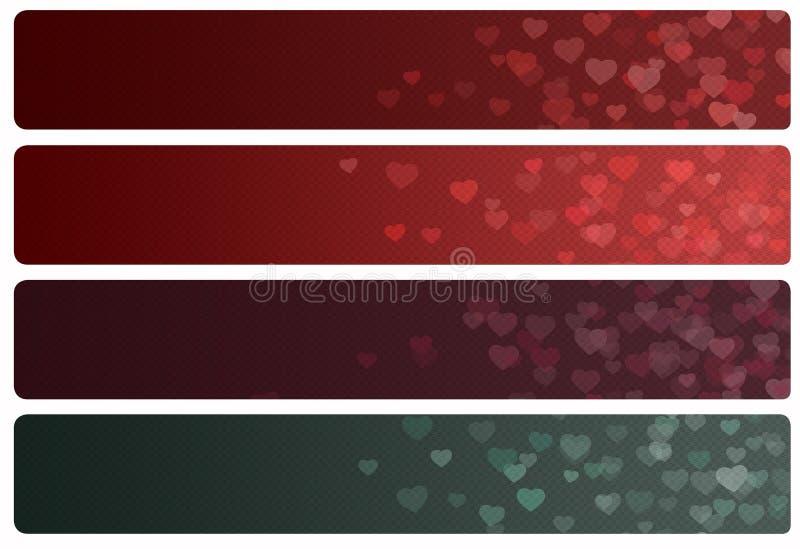 Coeur d'en-têtes/bannières illustration libre de droits