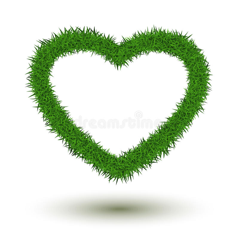 Coeur d'herbe illustration stock