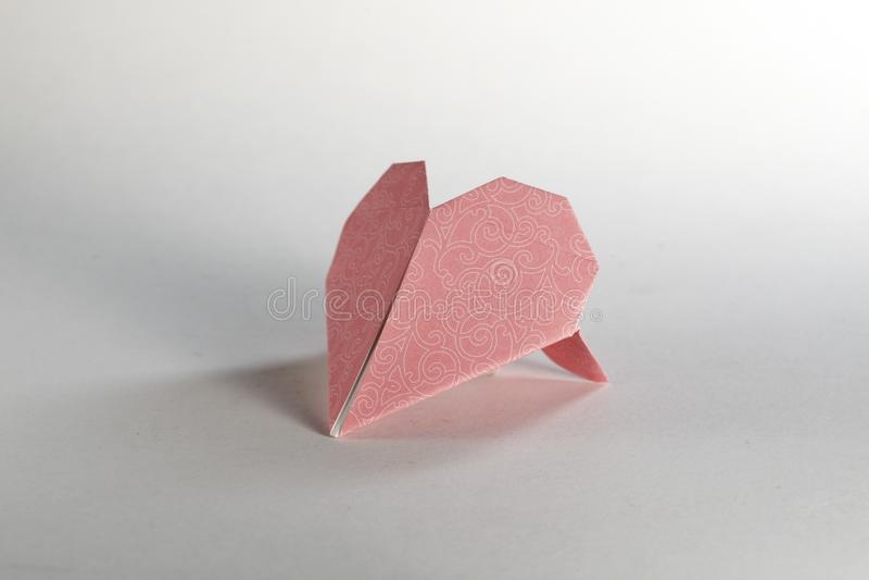 Coeur d'Origami image libre de droits
