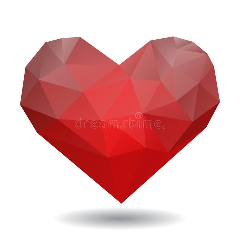 Coeur d'origami sur le blanc illustration stock