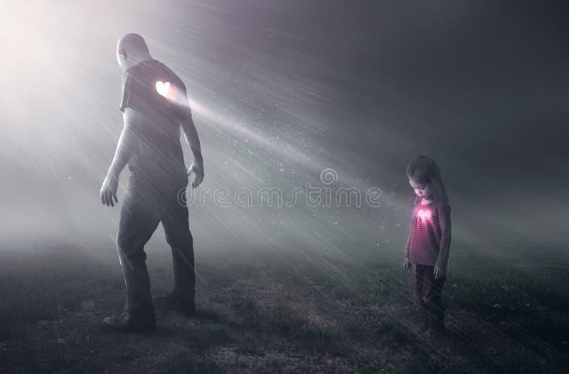 Coeur d'un père image libre de droits