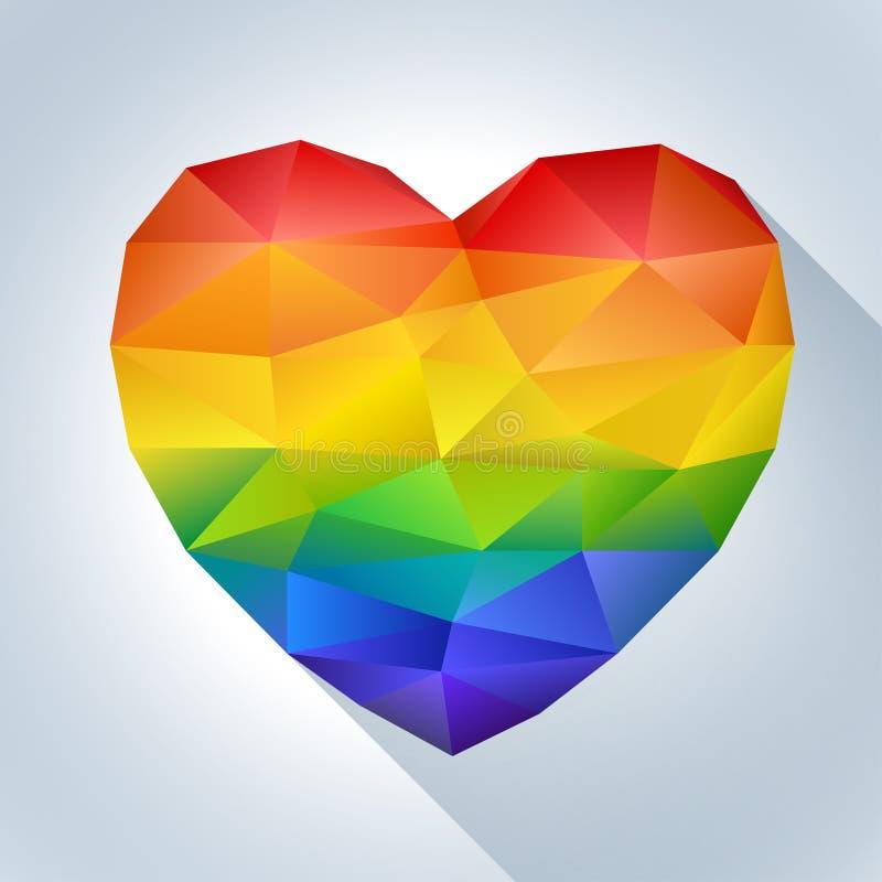 Coeur dans des couleurs d'arc-en-ciel images libres de droits