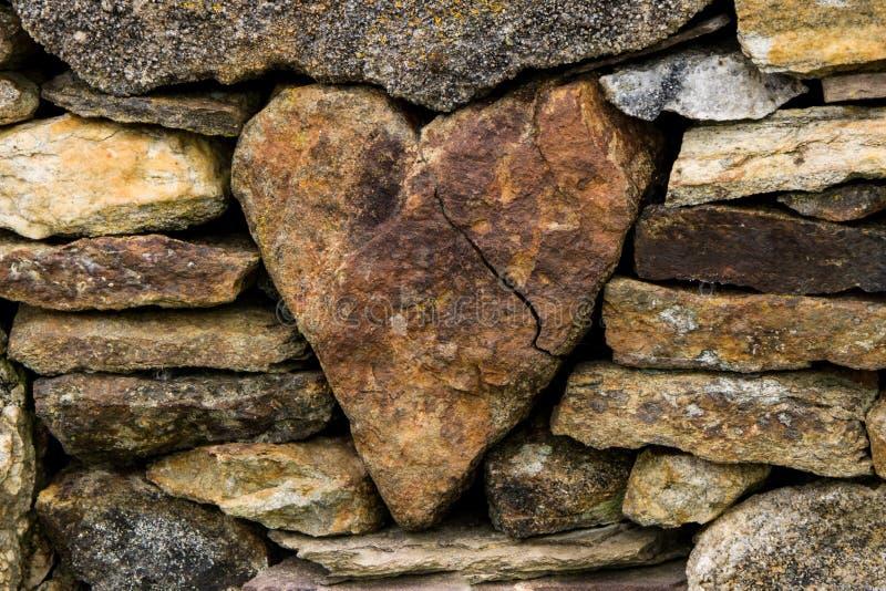 Coeur dans la barrière photo stock