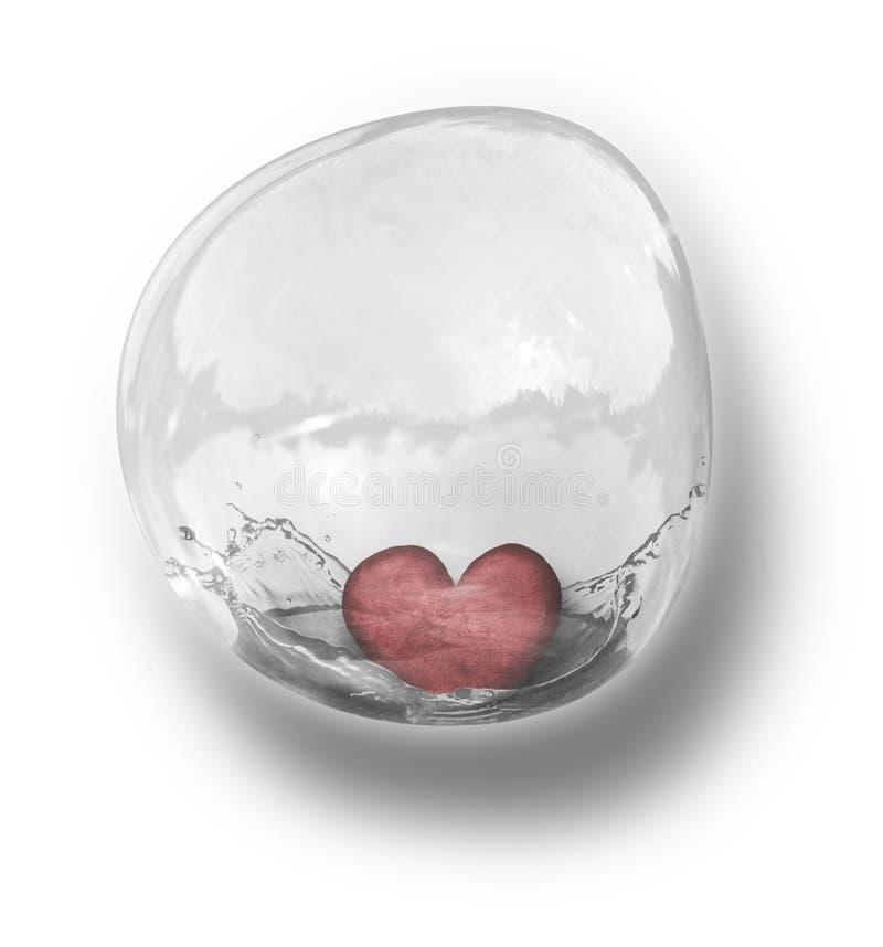 Coeur dans la bulle images stock