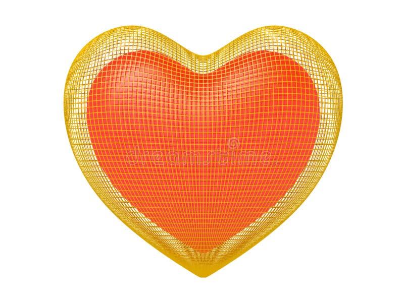 Coeur dans la cage d'or illustration libre de droits