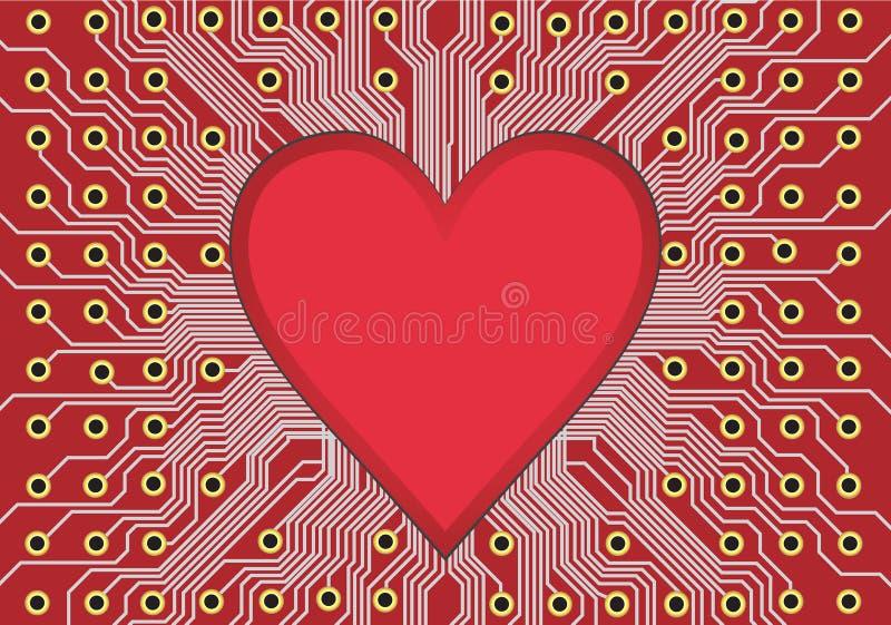 Coeur dans la carte illustration libre de droits