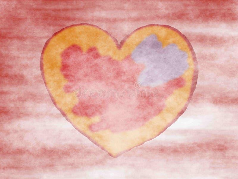 Coeur dans le brouillard illustration de vecteur