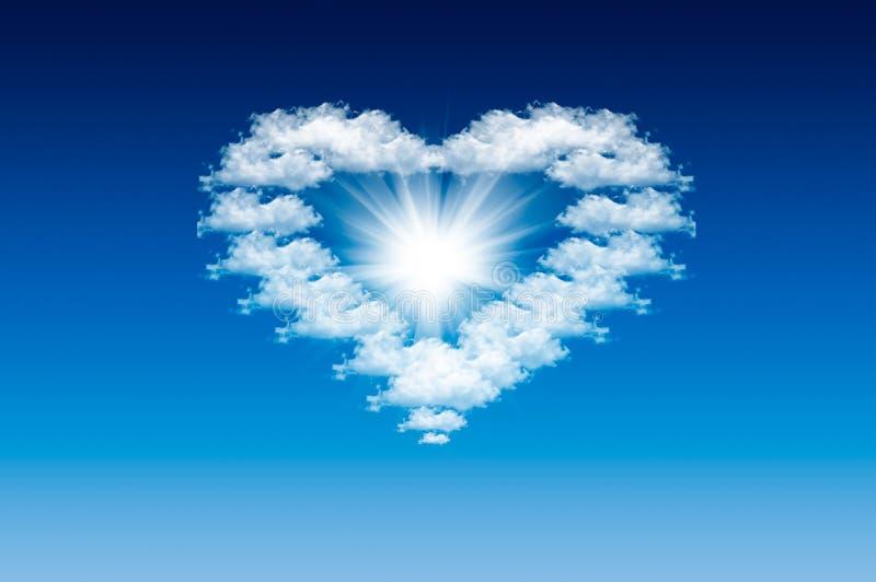 Coeur dans le ciel photo stock