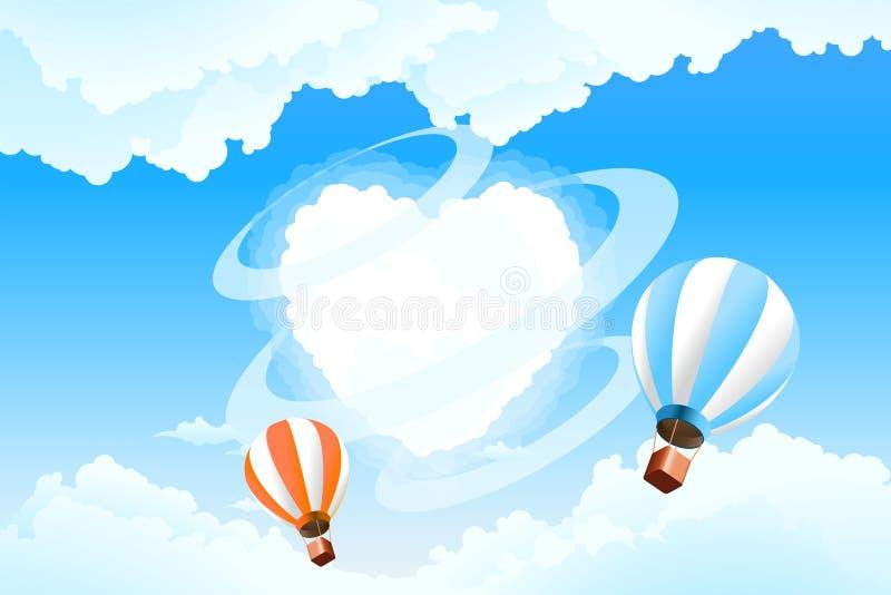 Coeur dans le ciel illustration de vecteur