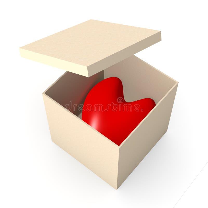 Coeur dans un cadre illustration libre de droits