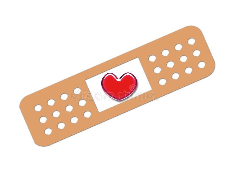 Coeur de bandage illustration stock