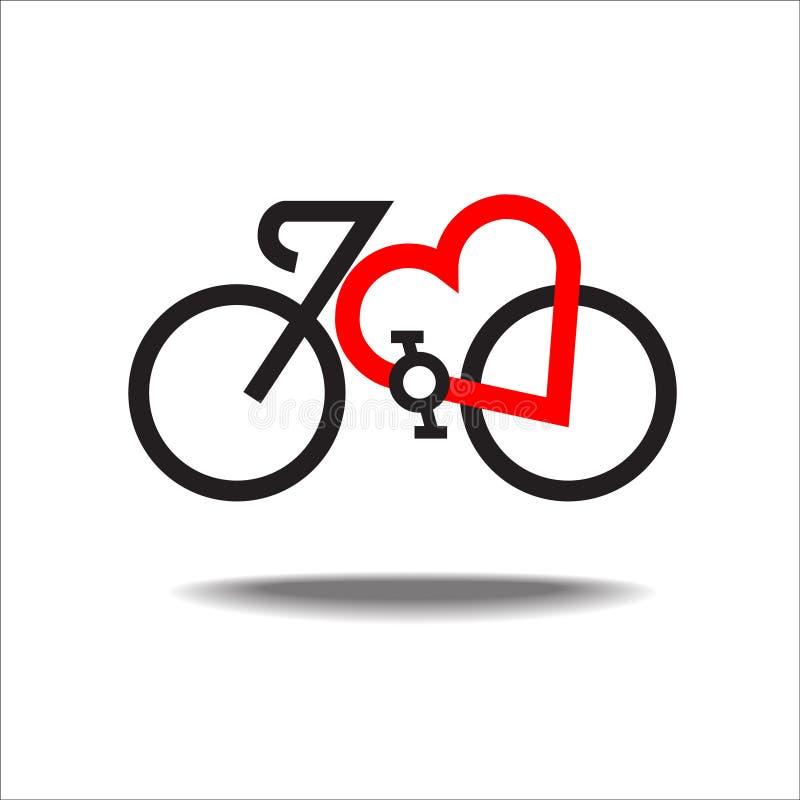 Coeur de bicyclette sain images stock