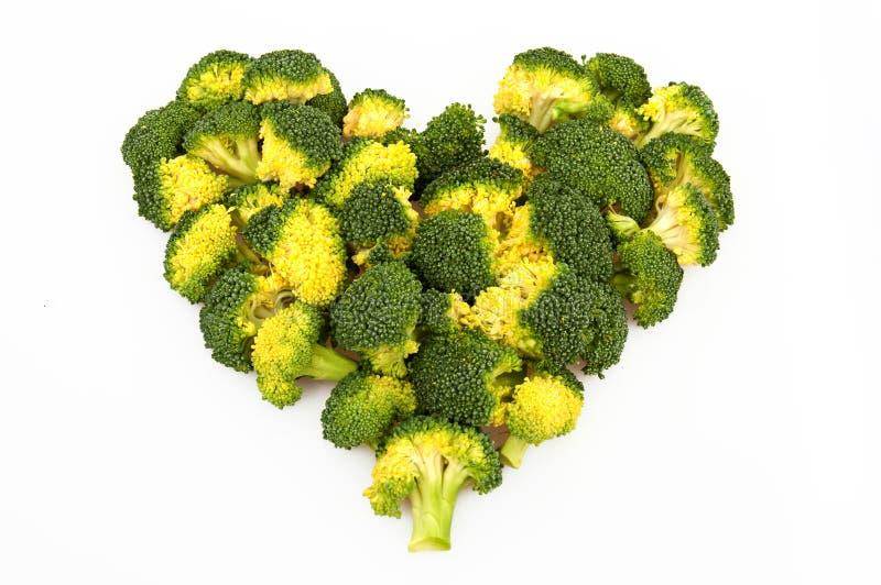 Coeur de broccoli images libres de droits