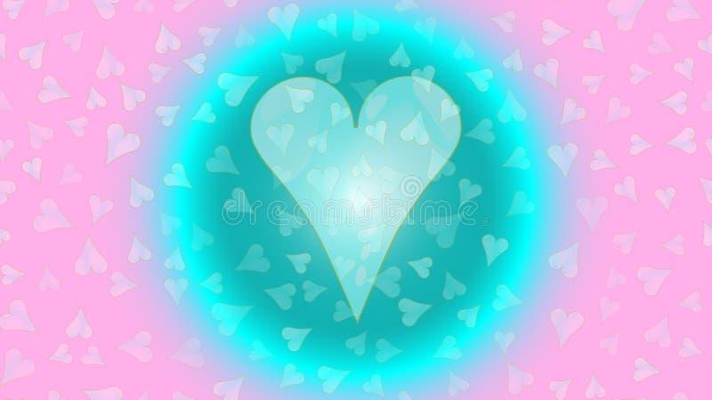 Coeur de C dans une bulle, cercle, coeur unique préféré de fête rougeoyant de boule au néon Illustration arrière de vecteur de fo illustration de vecteur