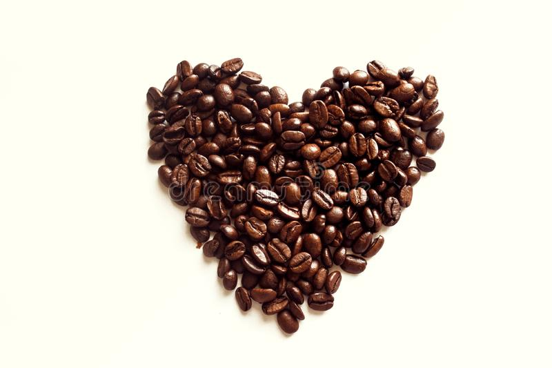 Coeur de café photos stock