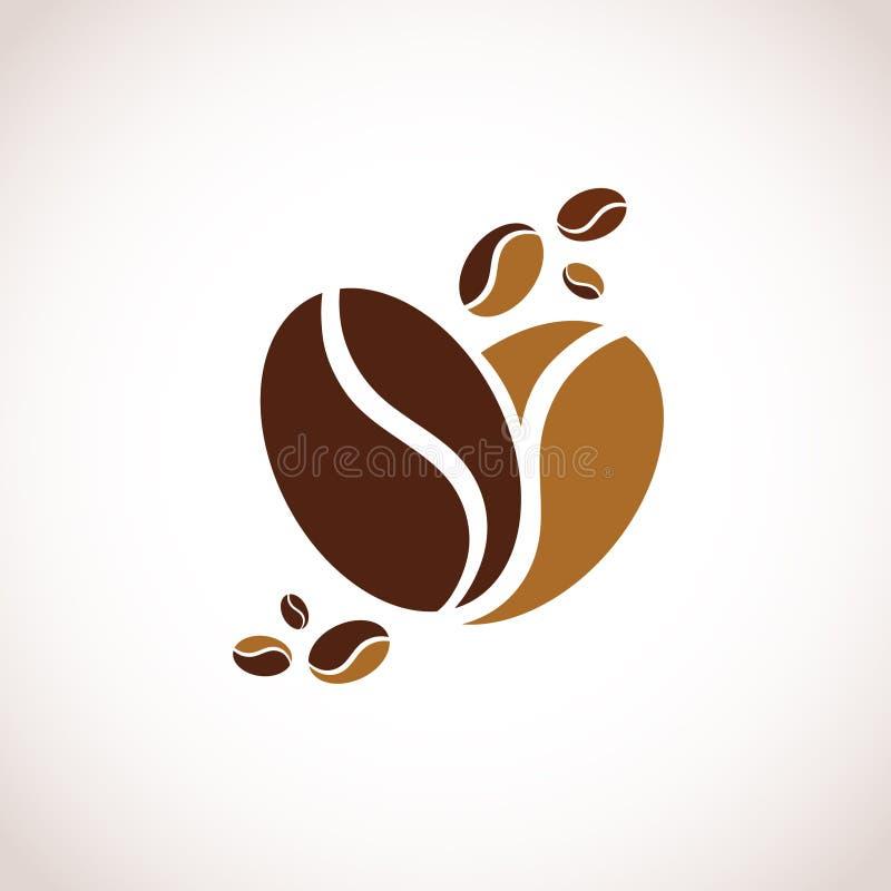 Coeur de café illustration libre de droits