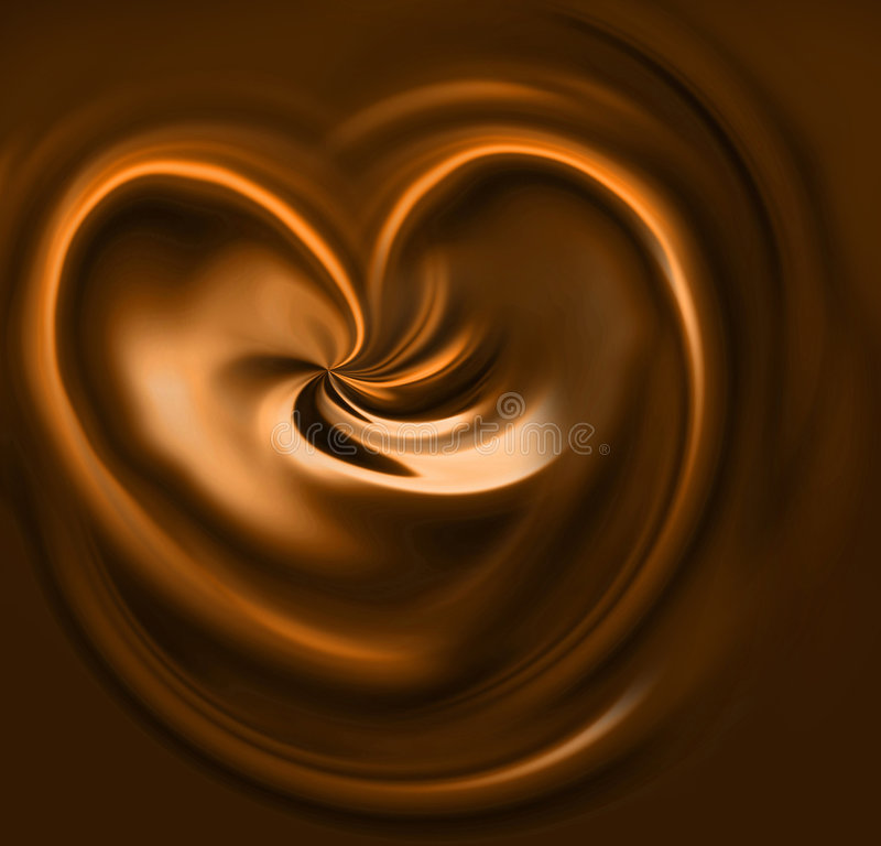 Coeur de caramel illustration stock